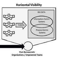 Comparison of Hierarchical and Horizontal Visibility